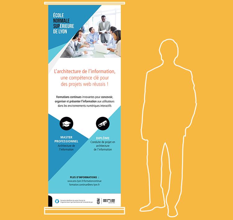 Kakemono pour la formation sur l'architecture de l'information à l'ENS