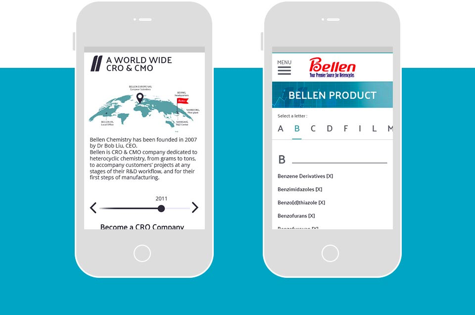 Bellen Europe - version mobile