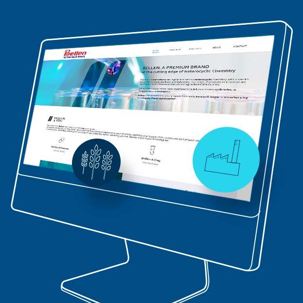Bellenchem Europe : UX design, ergonomie, Web design, développement & print