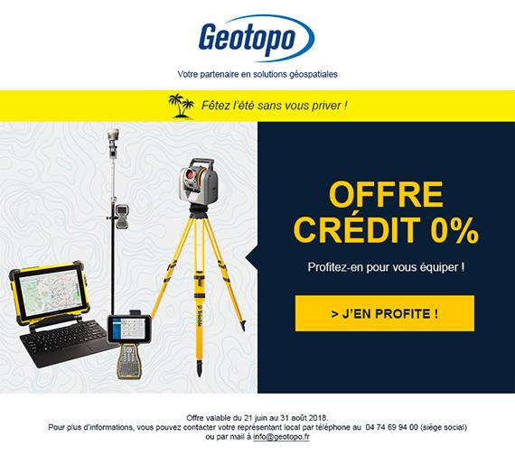 Geotopo emailing sur l'offre crédit 0%