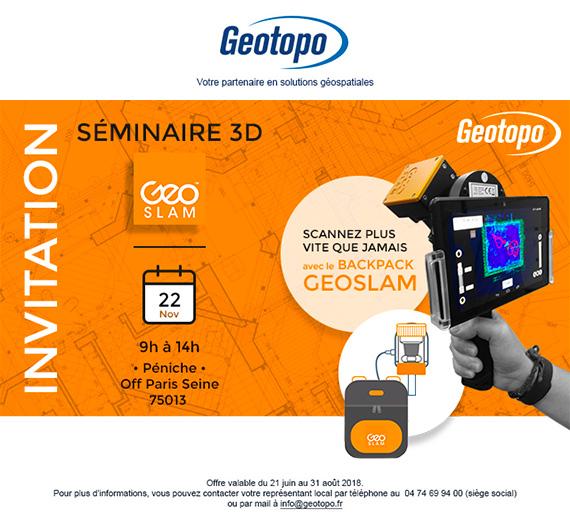 Geotopo emailing invitation au séminaire 3D
