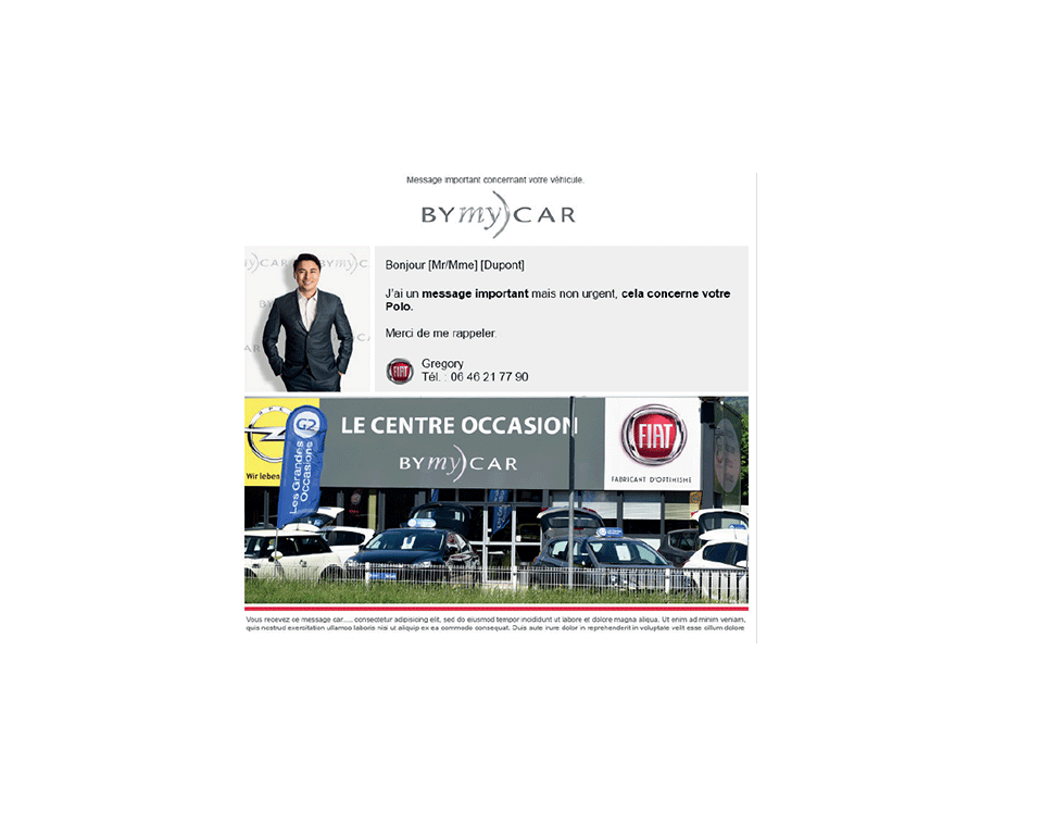 MADMINT designed Fiat's emailing for BYmyCAR