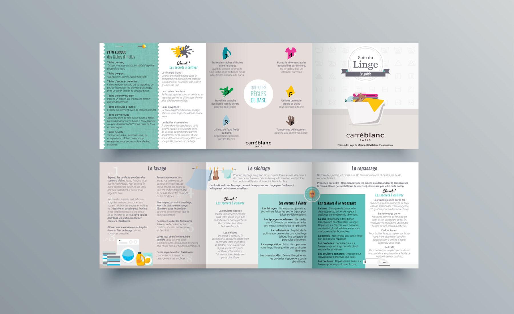 Carré blanc's leaflet designed by MADMINT