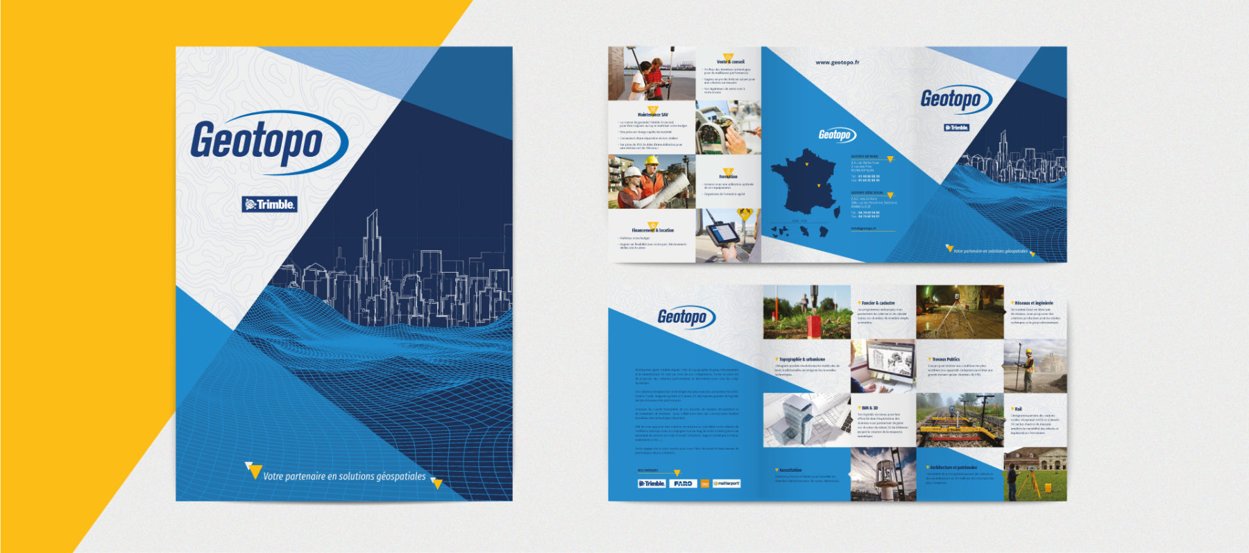 MADMINT designed brochure trifold for Geotopo