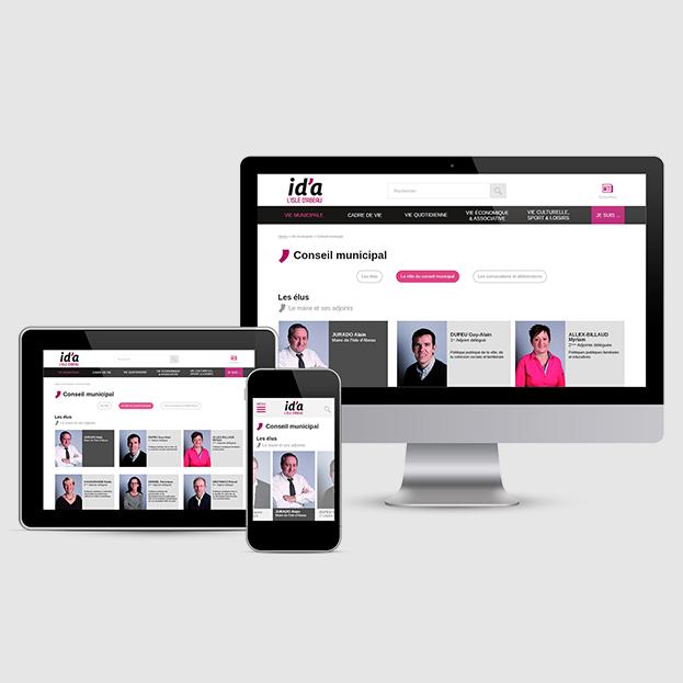 L'Isle d'Abeau council : UX & Web design