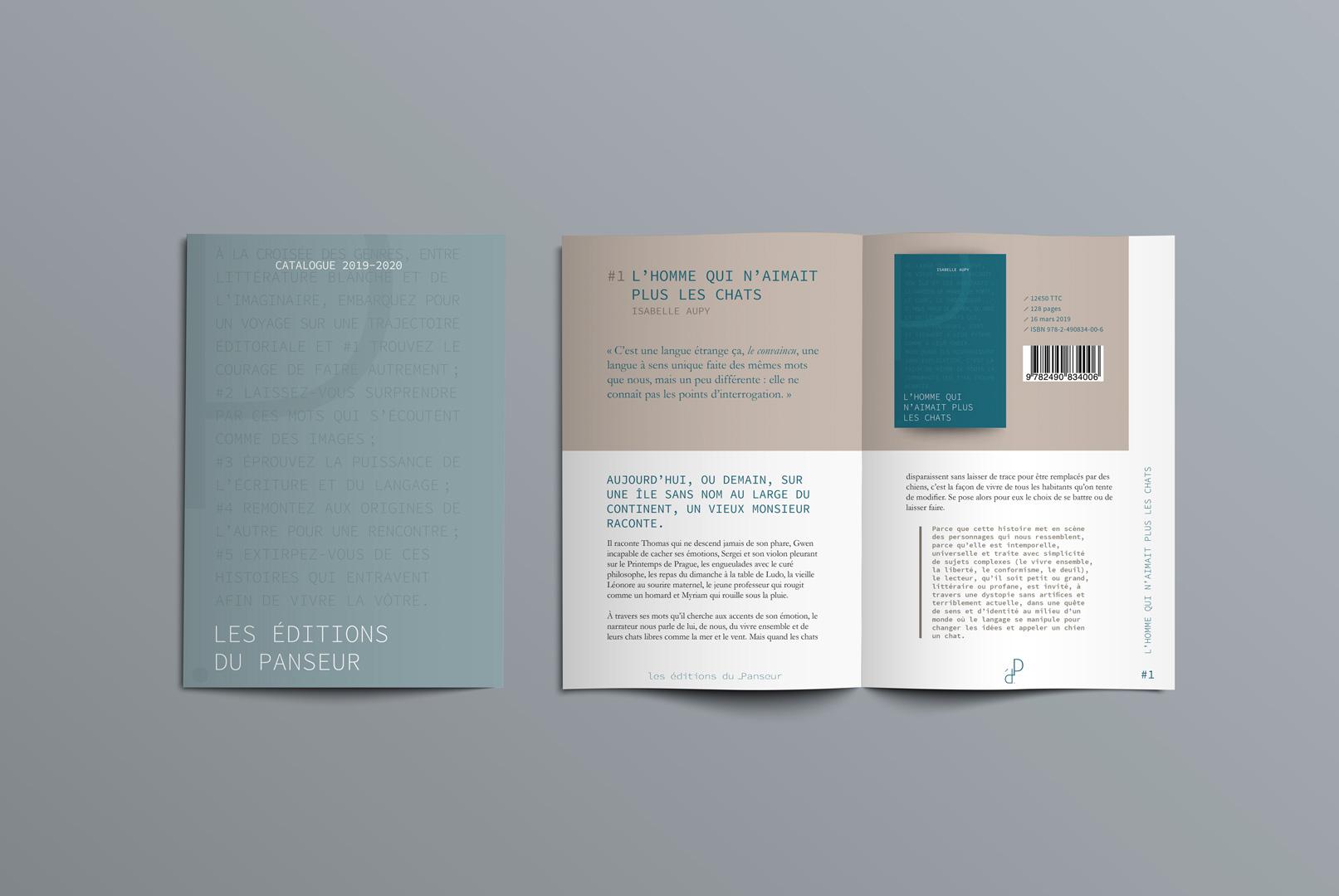 Catalogue présentant les livres Les Éditions du panseur designé par MADMINT
