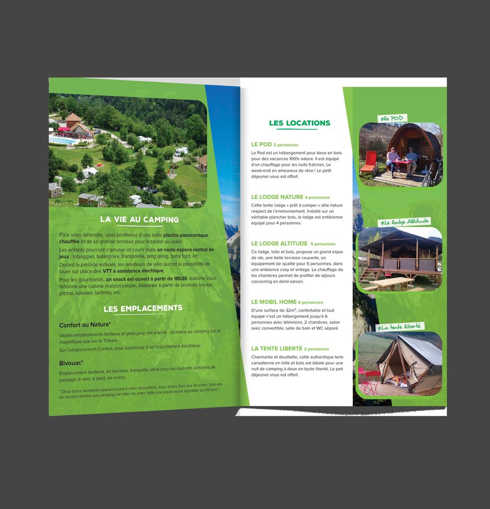 Pages intérieures du flyer du camping Belle Roche