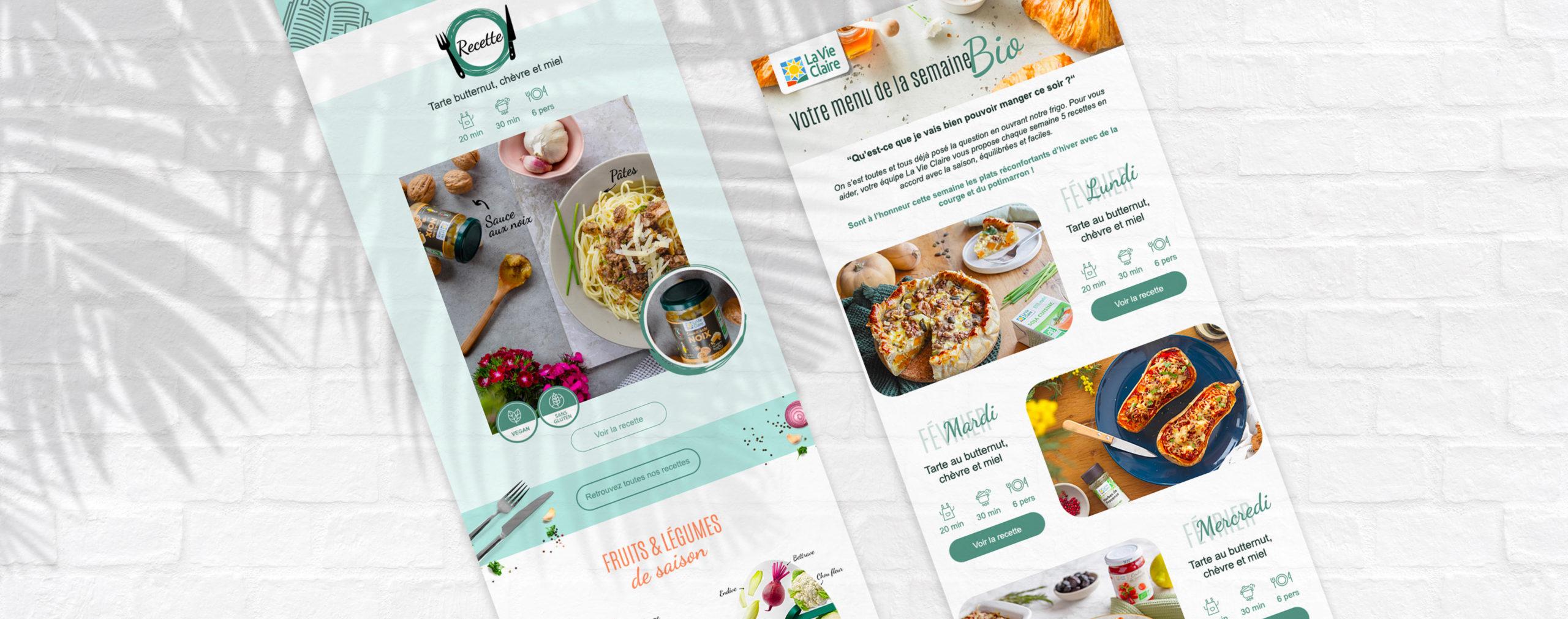 Newsletters de La Vie Claire designés par MADMINT