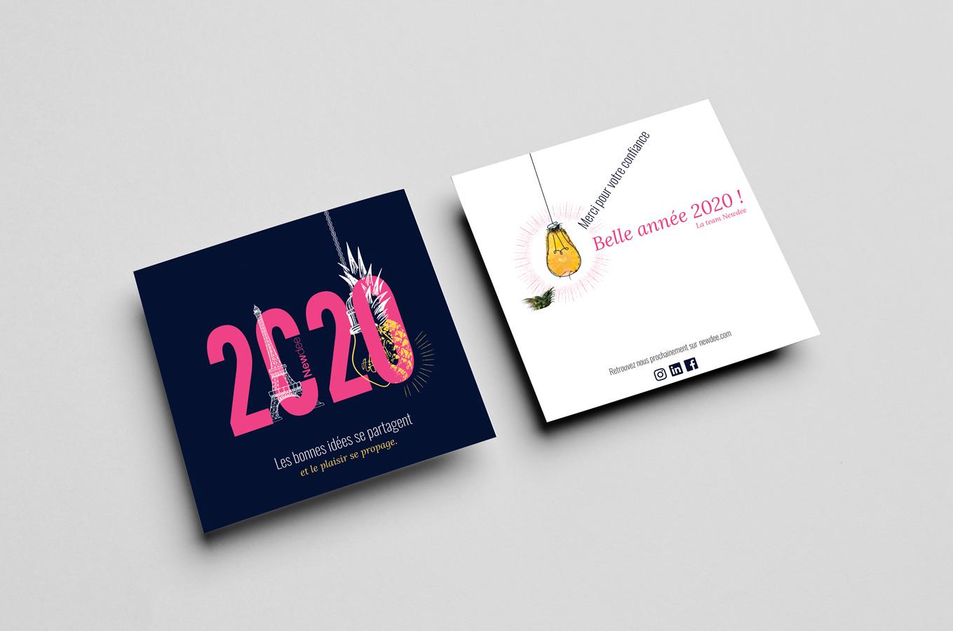Carte de voeux 2020 de Newdee designé par MADMINT