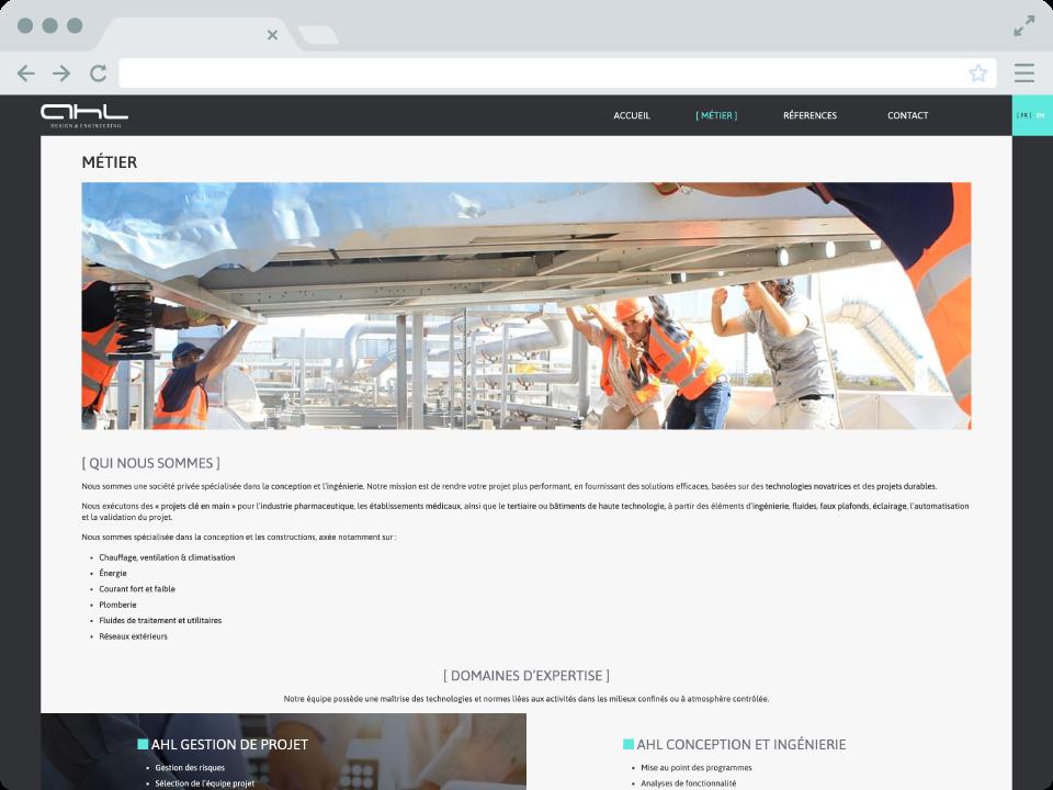 Site internet AHLDE - page métier