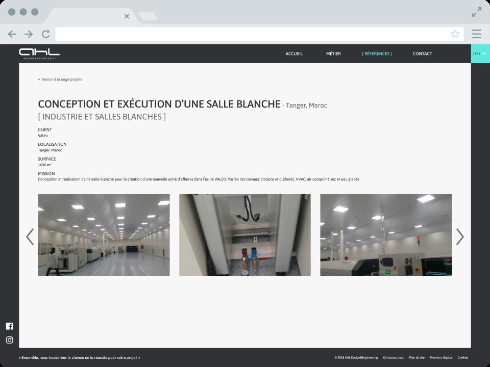 Site internet AHLDE - page projet