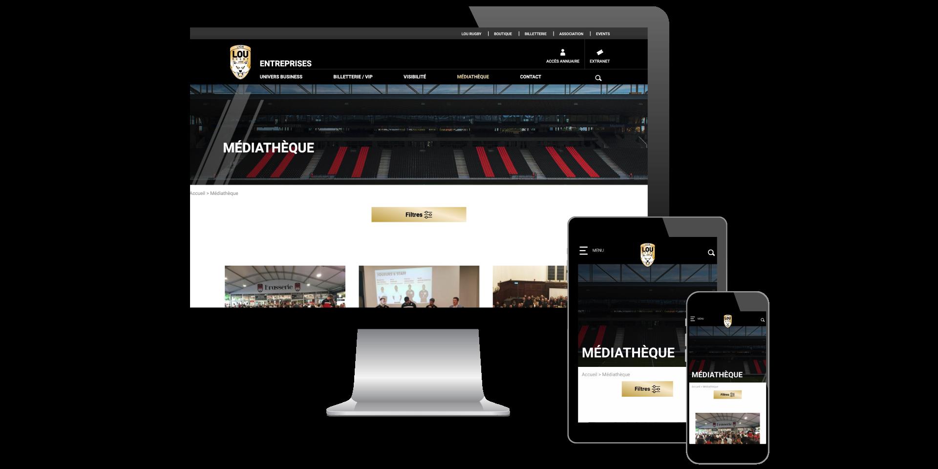 Page Médiathèque Lou Business Club designé par MADMINT
