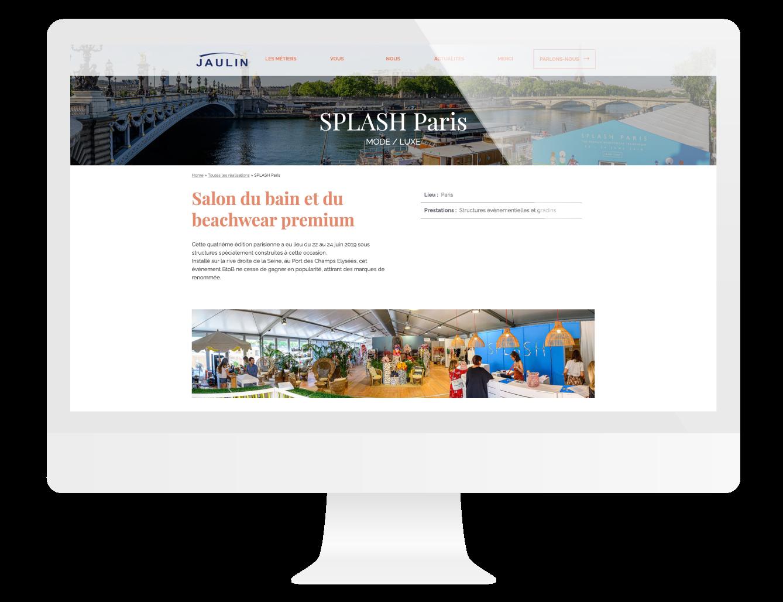 Page projet du site internet Jaulin